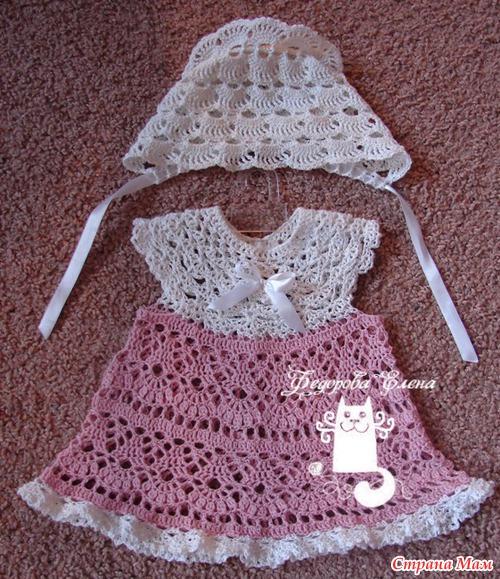 Платье на новорожденных крючком схемы