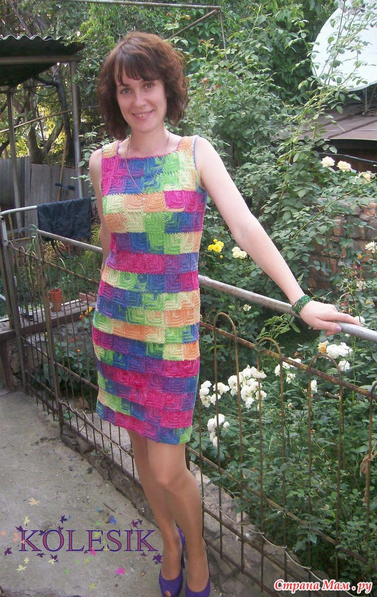 платье вязанное крючком схема легкое страна мам