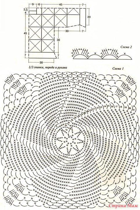 Вязание крючком схемы спираль