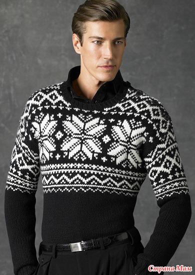 Мужские пуловеры спицами