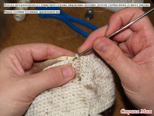 Шапка вязаная норка своими руками мастер класс