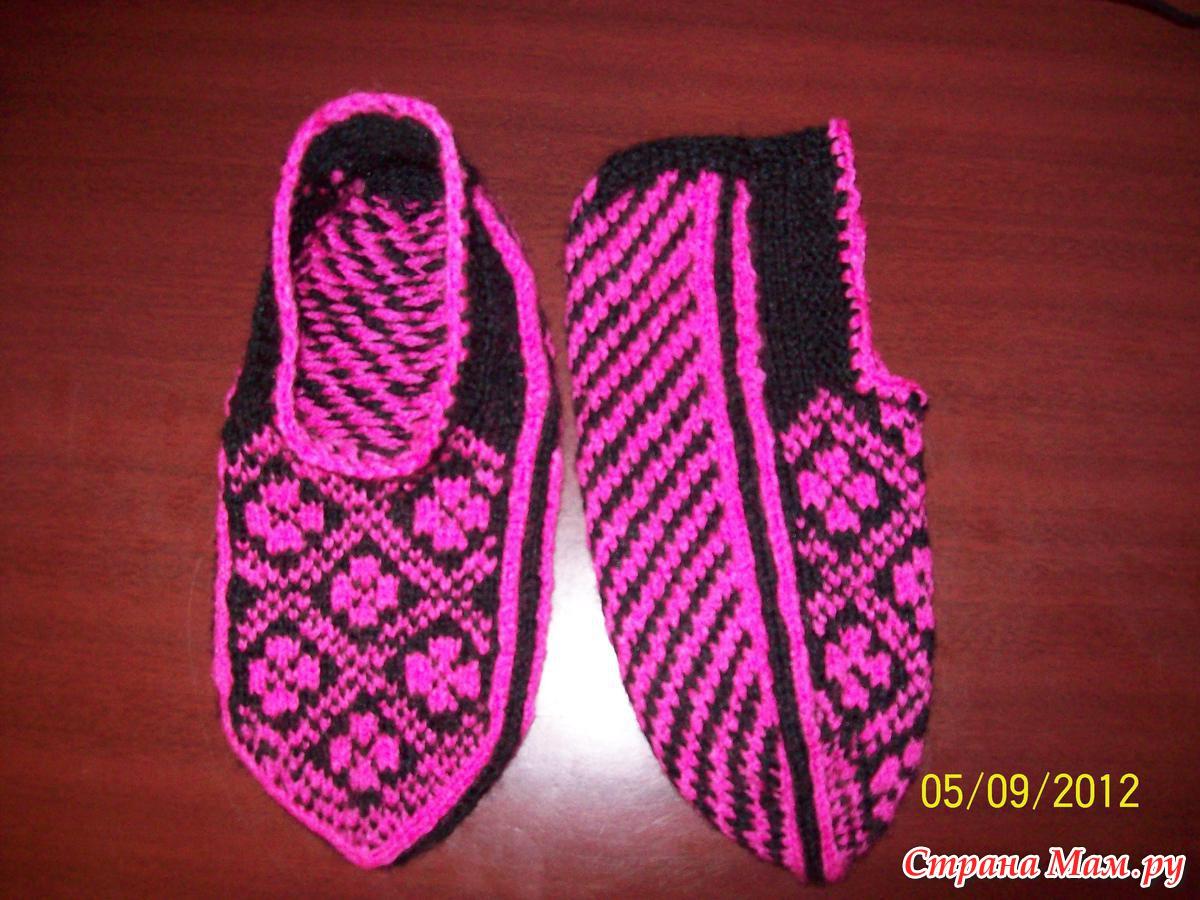 Тапочки для девочки вязание спицами 33