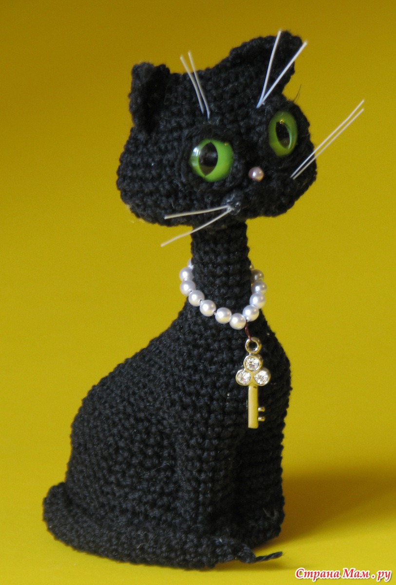 Вязание крючком на кошку 359