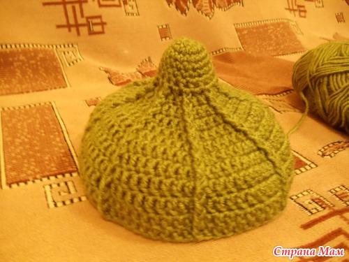 Вязание шапки будёновки 93