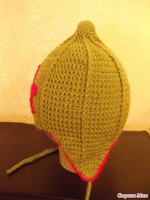 Вязание шапки будёновки 27
