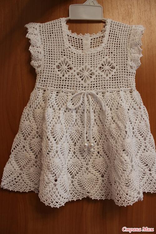 Ажурное платье на первый день