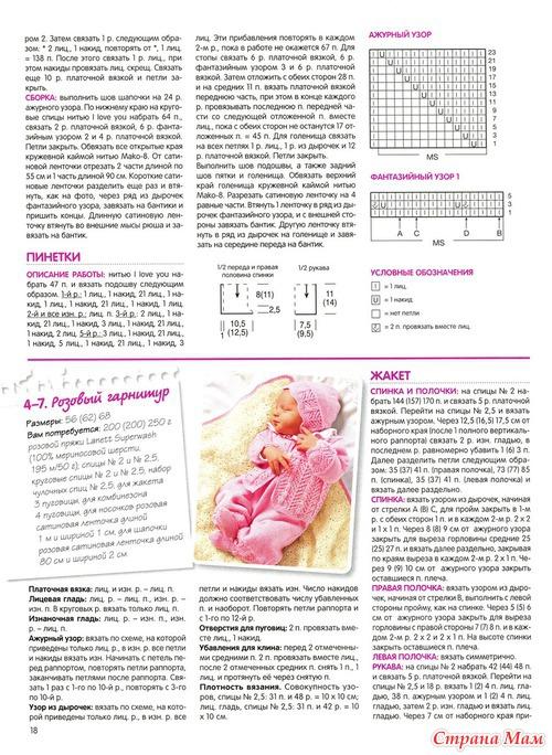 Журналы и схемы по вязанию спицами