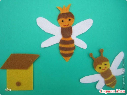 Как сделать пчелку из цветной бумаги - Studentswear.ru