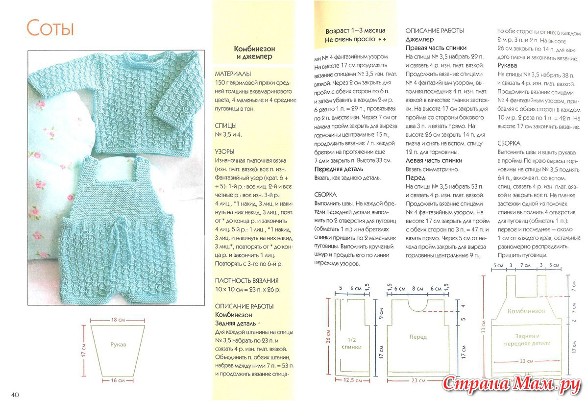 Узоры для детского вязания спицами с описанием и схемами 21