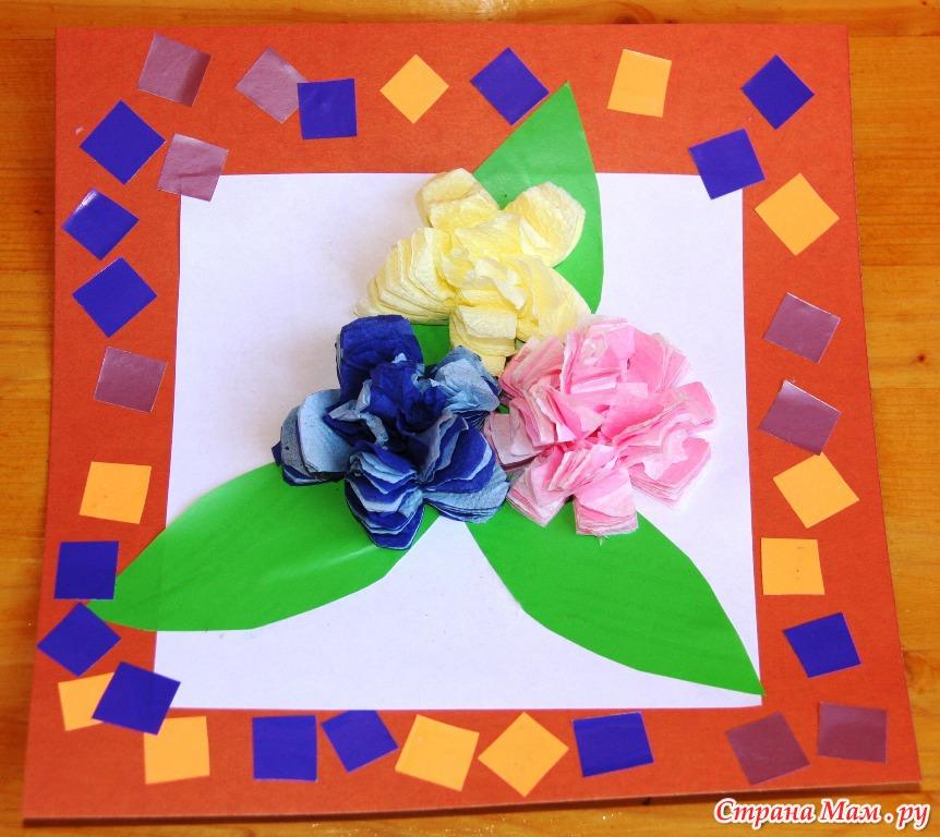 Поделки из бумажных салфеток с детьми 99