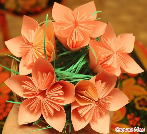 Букет из цветов оригами своими руками