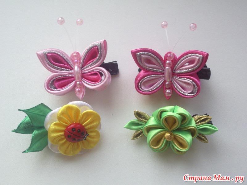 Канзаши роза резиночками
