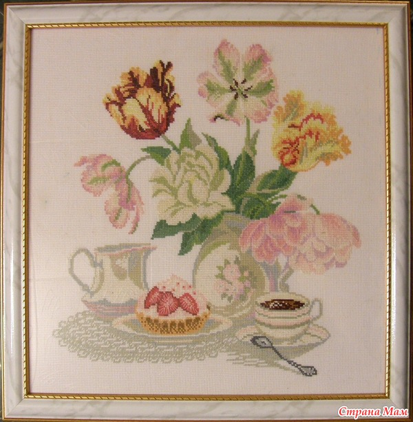 с тюльпанами от Riolis