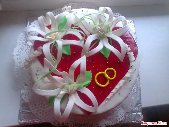 торт на годовщину знакомства не из мастики