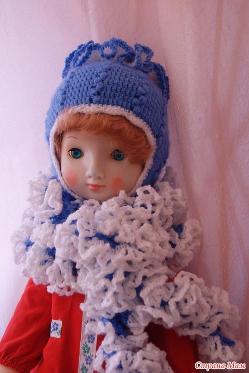 Комплект для девочки: шапочка и шарфик