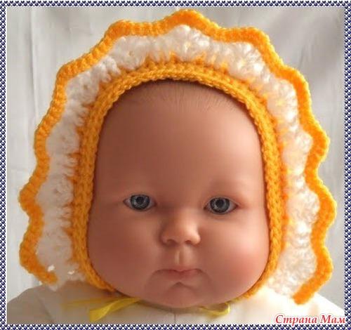 Чепчик для малыша с выкройкой