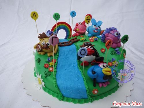 детские торты мультяшки фото