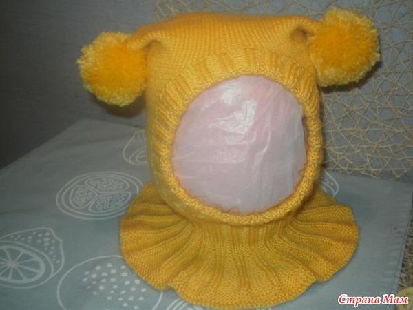 Вяжем шапочку шлем для малыша