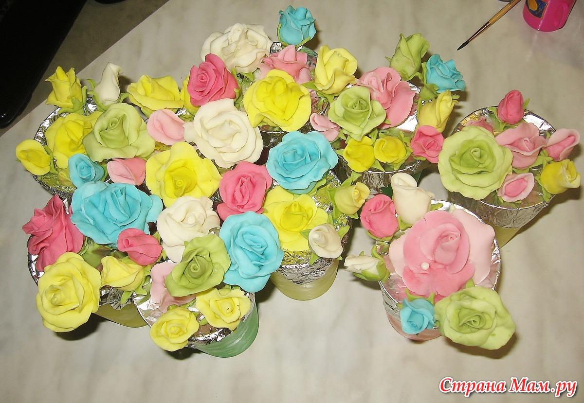 Торт из мастики в виде букета цветов мастер класс