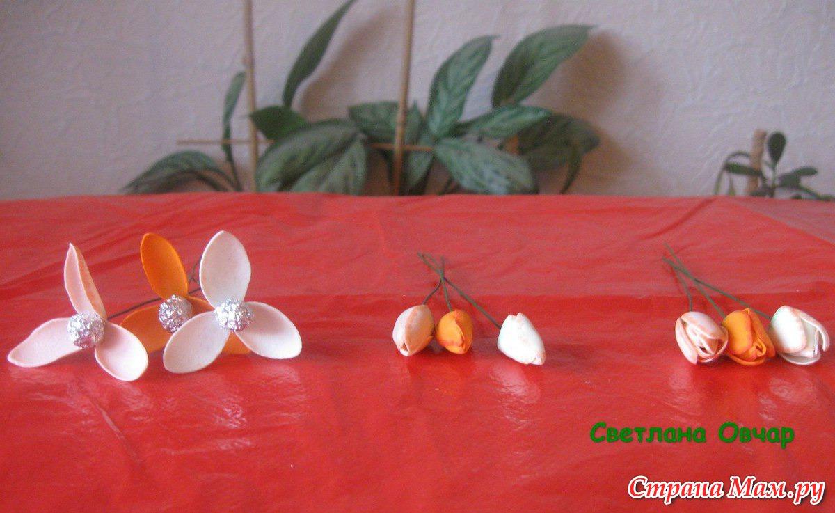Тюльпан из фоамирана мастер класс