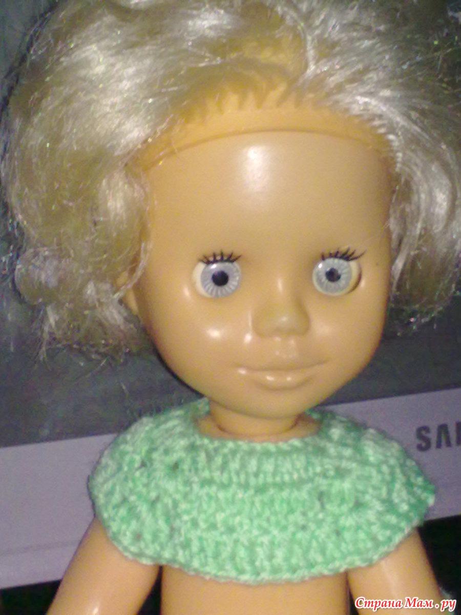 Платье реглан крючком на куклу