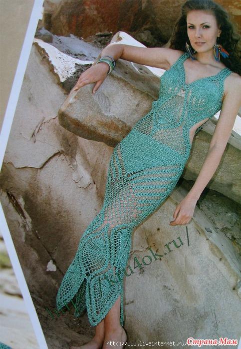 Размеры вязаного платья