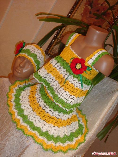 Летний костюм для дочки.