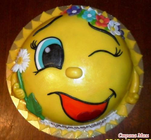 Торт в виде солнце фото