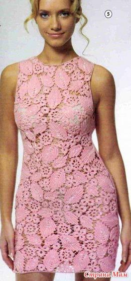 Платье крючком схема. Модель