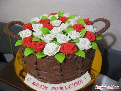 торт ввиде корзине с фото