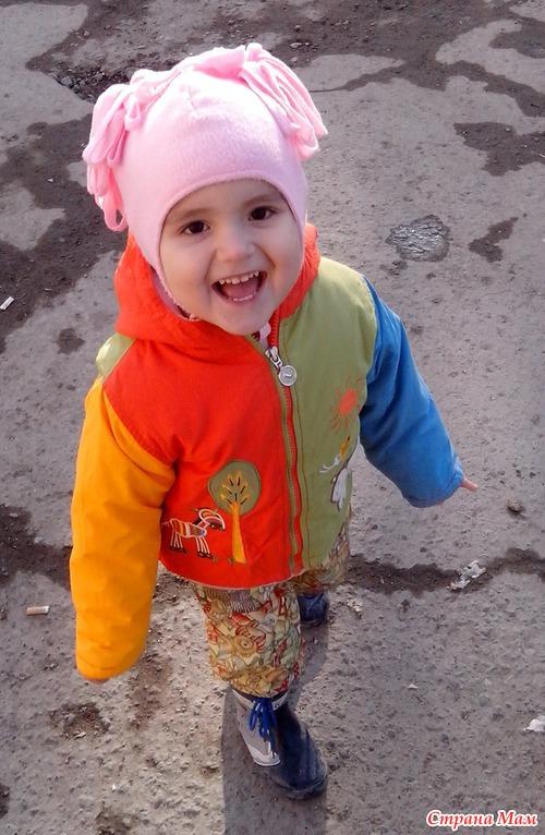 Своими руками шапка для девочки из флиса 13