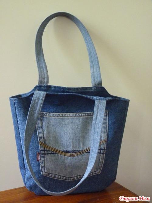 Фото сумка из джинса своими руками