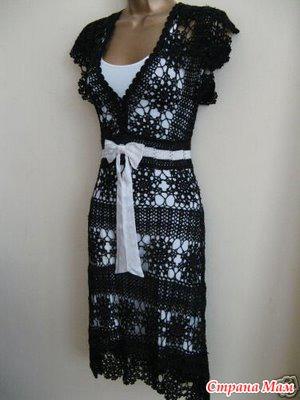 Вяжем кружевное платье