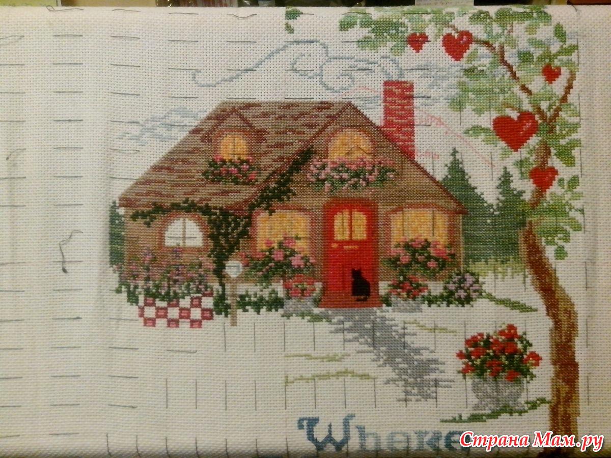 Вышивка крестом схемы домов 70