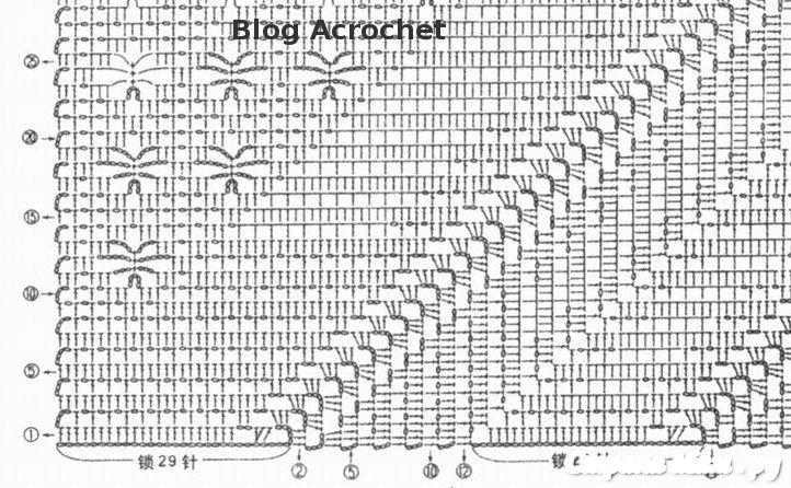 Вязание по диагонали крючком схема 38