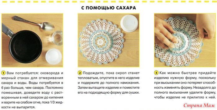 Как накрахмалить связанную шляпу