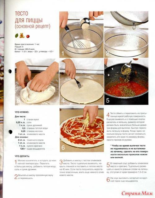 Пицца... - Мир кулинарных книг и журналов. - Страна Мам