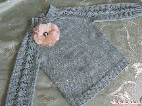 Пуловер для дочки от Светланы Волковой - Вяжем вместе 74