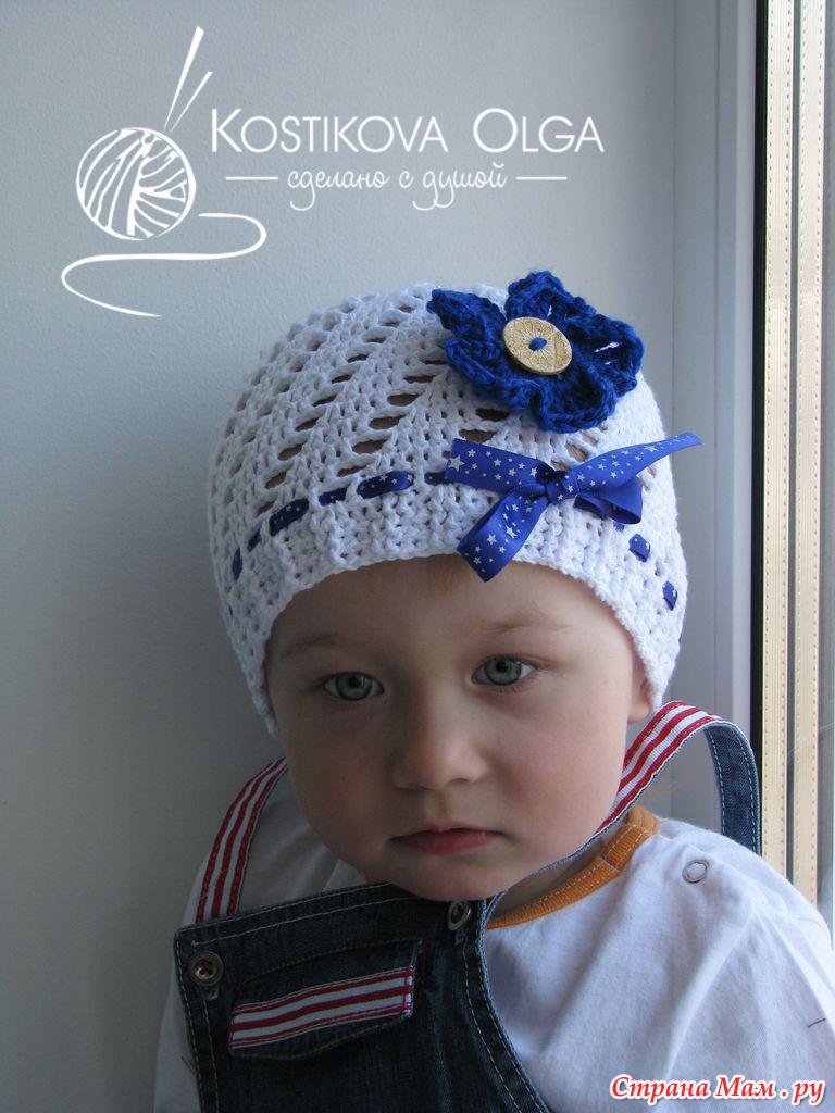 Вязание для маленьких шапочки 29