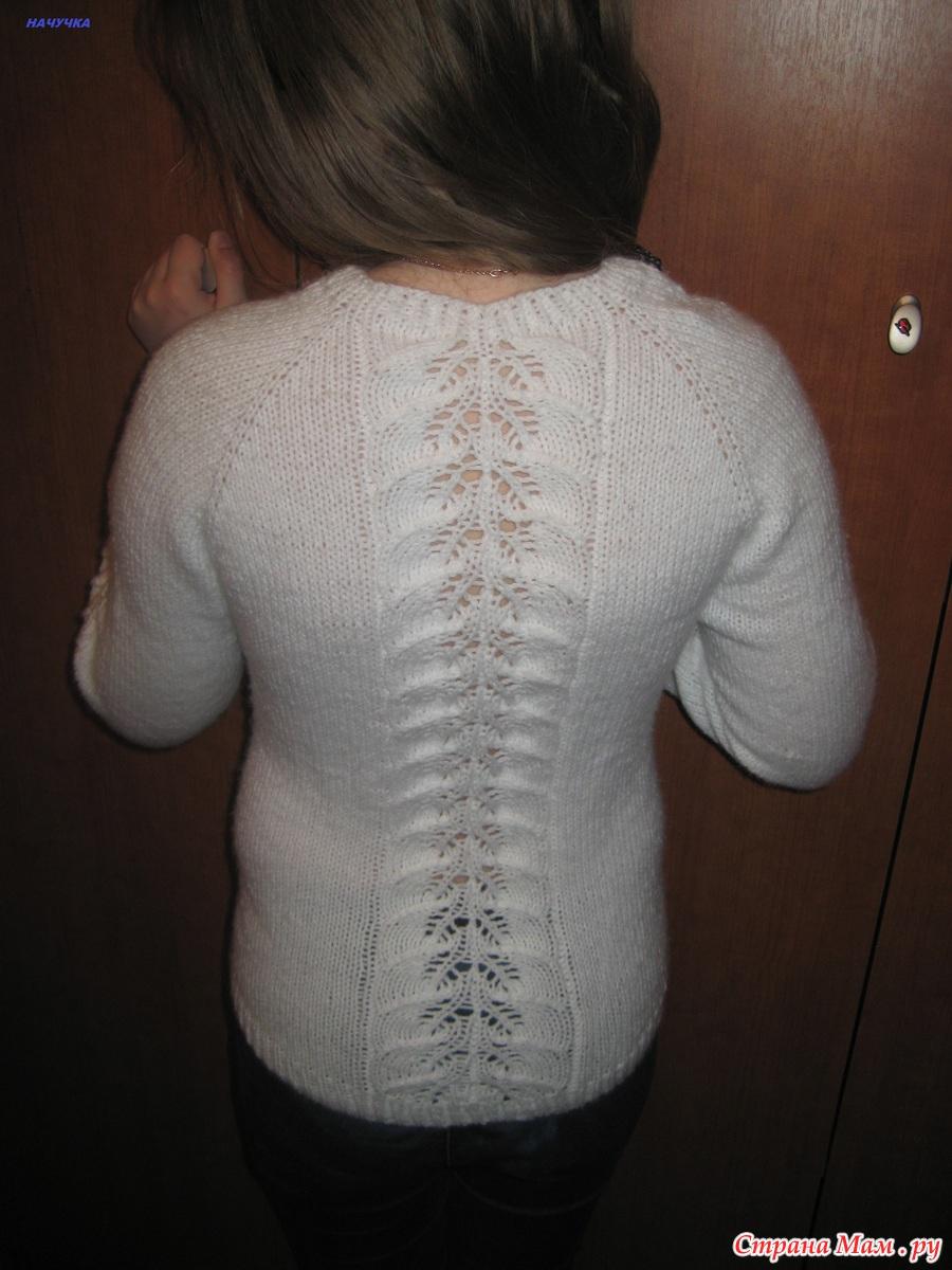 Пуловер для дочки от Светланы Волковой - Вяжем вместе 24
