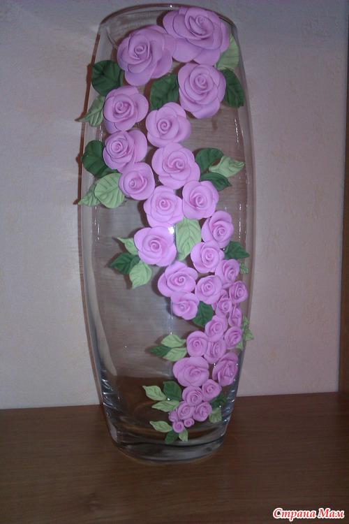 Как сделать из полимерной глины вазу