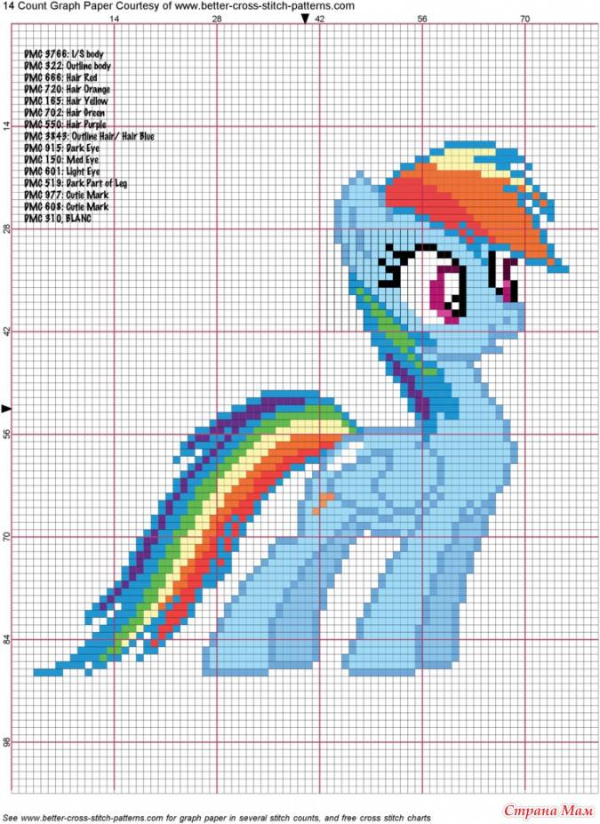 Маленький пони вышивка