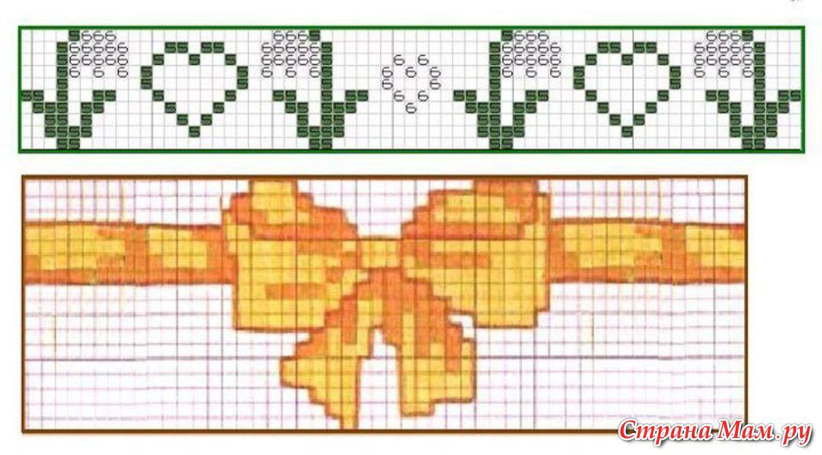 Схемы вышивки на браслеты