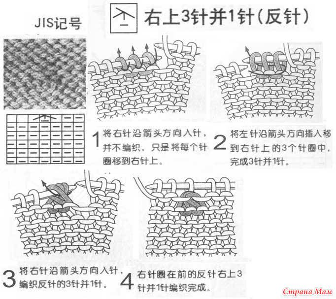 к японским схемам вязания.