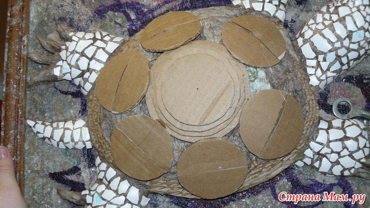 Поделка черепаха из картона и
