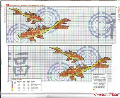 Схема вышивка крестом рыбы схемы 88