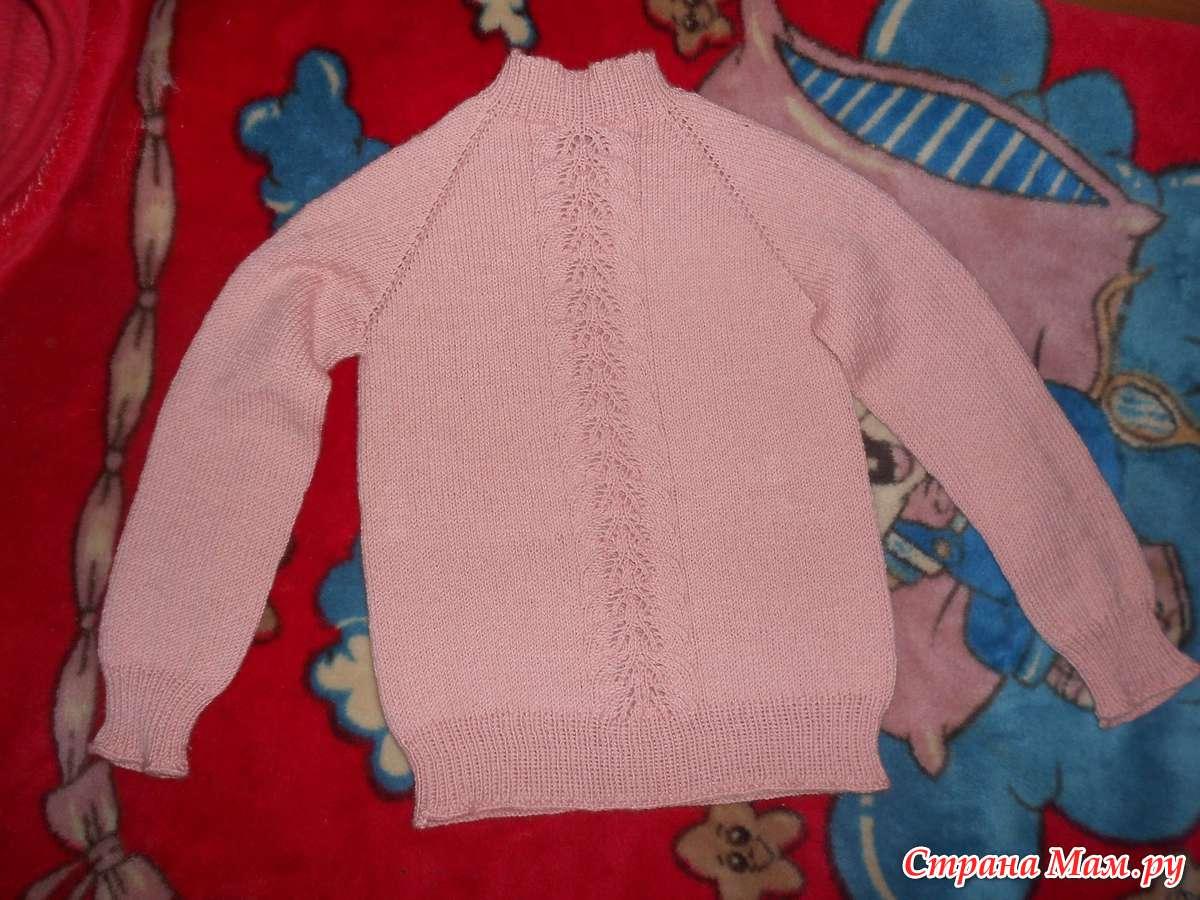 Пуловер для дочки от Светланы Волковой - Вяжем вместе
