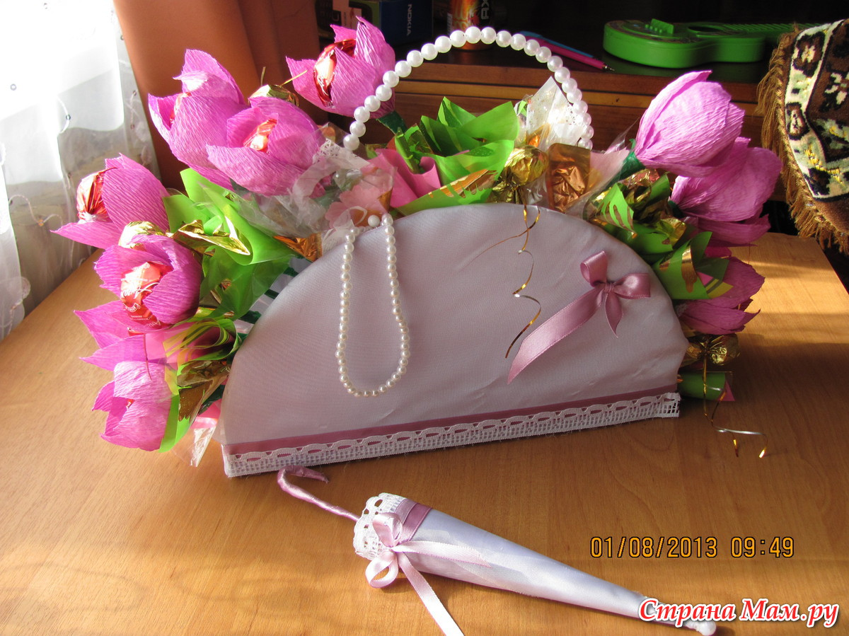 Как сделать сумочку для цветов своими руками
