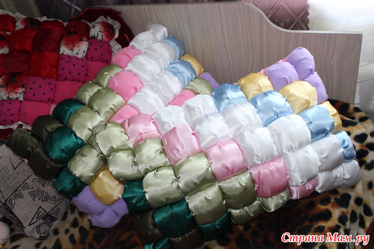 Одеяло из кусочков синтепона своими руками