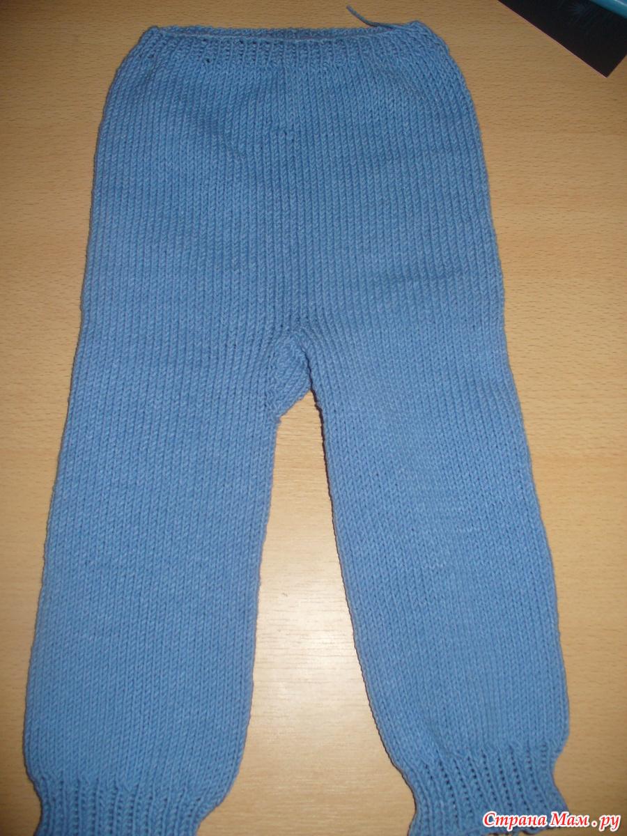Как связать спицами штанишки для малыша 20